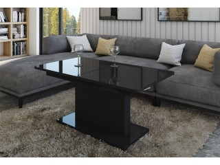 Opti - Extending Coffee In To A Dining Table, Black matt