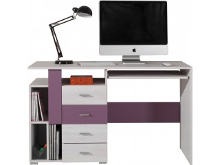 NET - Desk NX13 Purple/white pine