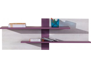 NET - Wall shelf NX15 Purple/white pine