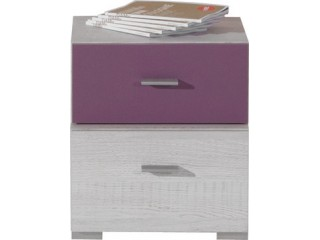 NET - Bedside table NX17 Bleached pine / purple