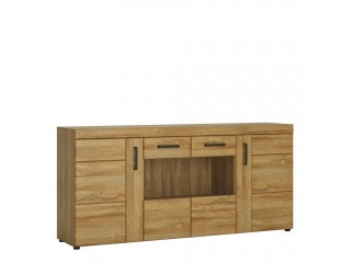 Cortina - glazed sideboard. FREE UK DELIVERY. W 1851 x H 860 x D 409 mm