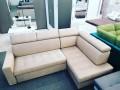 KING - stylish corner sofa bed with headrests