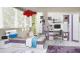 NET - Wide bed L/R NX18 Bleached pine / purple