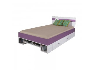 NET - Wide bed L/R NX18 Bleached pine / purple