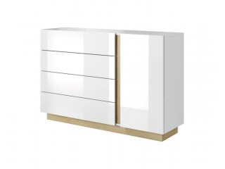 Ares - 1 Door 4 Drawers Sideboard, 138cm x 91,0 cm x 40cm