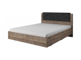 Arlo - Kingsize Bed, oak sand grande / grey, 164,4 cm x 102,5 cm x 208,2 cm