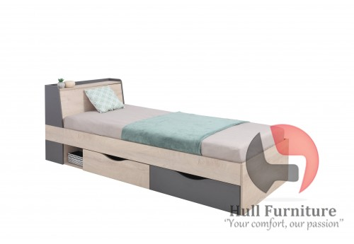 Dora - Single bed with drawers, 230 / 85 / 94cm
