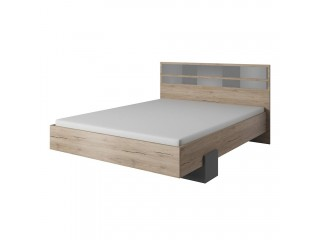 Meghan - Bed - Sand Remo + Gray- 160/200cm