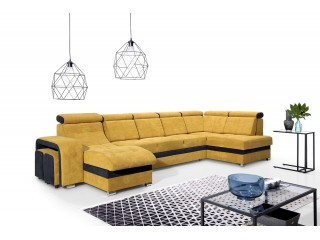 MILAN - stylish corner sofa bed with headrests