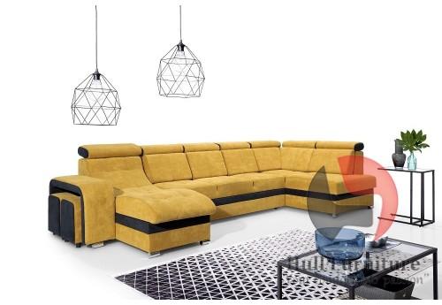 MILAN - stylish corner sofa bed with headrests