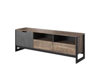Arlo - TV Unit, Oak Sand Grande / Grey Concrete, 161 cm x 53 cm x 39.6 cm
