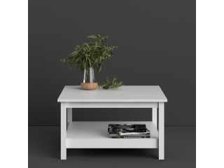 BARCELONA - Coffee Table in White. W 810 x H 450 x D 810 mm, FREE UK DELIVERY