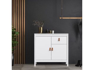 BARCELONA - Sideboard 2 doors + 1 drawer in White. W 821 x H 797 x D 384 mm, FREE UK DELIVERY