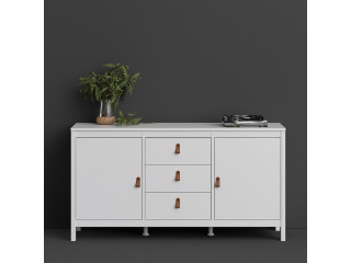 BARCELONA - Sideboard 2 doors + 3 drawers in White. W 1512 x H 797 x D 384 mm, FREE UK DELIVERY