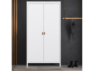BARCELONA - Wardrobe with 2 doors in White. W 1021 x H 1990 x D 584 mm, FREE UK DELIVERY