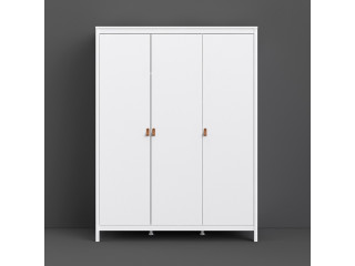 BARCELONA - Wardrobe with 3 doors in White. W 1498 x H 1990 x D 584 mm, FREE UK DELIVERY