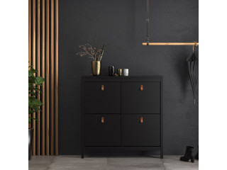 BARCELONA - Shoe cabinet in Black. W 1024 x H 1029 x D 246 mm, FREE UK DELIVERY