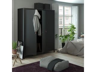 BARCELONA - Szafa Barcelona z 3 drzwiami w kolorze czarnym. Darmowa dostawa na terenie UK. SZ 1498 x W 1990 x G 584 mm