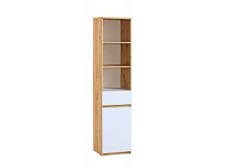 Ice - 1 Drawer 1 Door Bookcase, W45cm x H195cm x D40cm