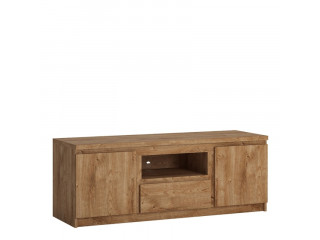 FRIBO - 2 doors 1 drawer 136 cm wide TV cabinet in Oak. W 1354 x H 511 x D 450 mm, FREE UK DELIVERY