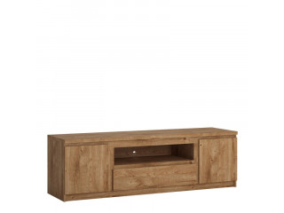 FRIBO - 2 doors 1 drawer 166 cm wide TV cabinet in Oak. W 1654 x H 511 x D 450 mm, FREE UK DELIVERY