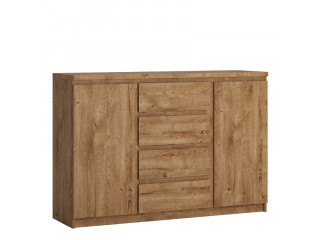 FRIBO - 2 door 4 drawer sideboard in Oak. W 1354 x H 929 x D 400 mm, FREE UK DELIVERY