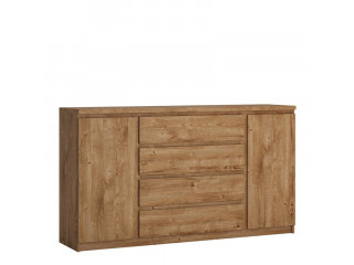 FRIBO - 2 door 4 drawer WIDE sideboard in Oak. W 1654 x H 929 x D 400 mm, FREE UK DELIVERY