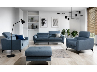 Pescara - 3 seater sofa with adjustable headrests