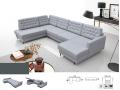 JULIE - Big corner sofabed with storage and sleeping function