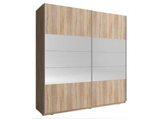 MIKA I 150cm or 200cm - Oak Sonoma  - Sliding door wardrobe with mirror
