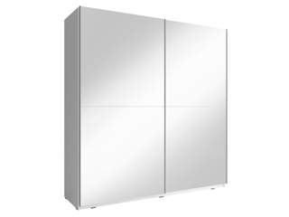 MIKA III 150cm or 200cm - White  - Sliding door wardrobe with mirror