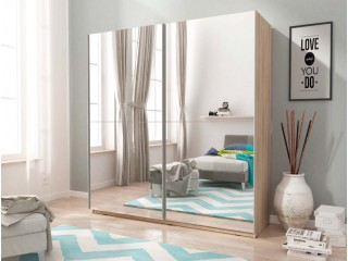 MIKA III 150cm or 200cm - Oak Sonoma  - Sliding door wardrobe with mirror