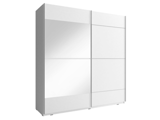 MIKA IV 150cm or 200cm - White  - Sliding door wardrobe with mirror