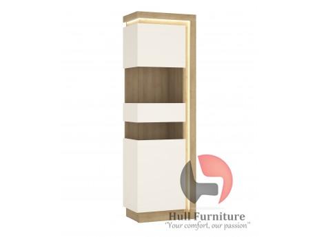 Lyon Tall  Narrow display cabinet (RHD)Size W 597 x H 1981 x D 420 mm