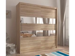 MAJA II 200cm - Oak sonoma - Sliding door wardrobe with mirror