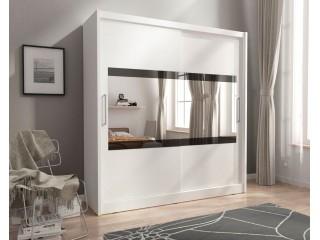 MAJA IV 200cm - White - Sliding door wardrobe with mirror