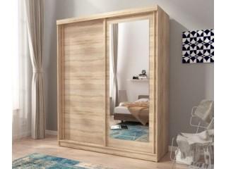 ALASKA 200cm - Oak sonoma - Sliding door wardrobe with mirror