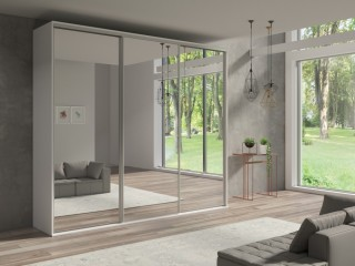 Wardrobe Grand 277 cm, 3 mirrors. Three colours available..