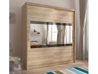 MAJA IV 180 cm - Oak sonoma - Sliding door wardrobe with mirror