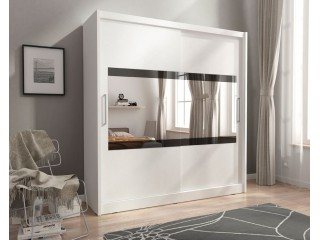 MAJA  IV 180 cm - White - Sliding door wardrobe with mirror