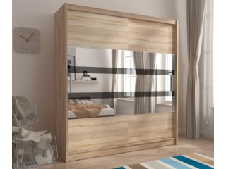 MAJA V 180 cm - Oak sonoma - Sliding door wardrobe with mirror