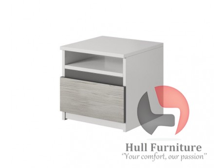 HEAVEN 23 - bedside table with one drawer and open space W42cm x H41cm x D36cm