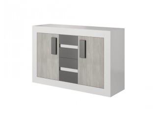 HEAVEN 27 - komoda 4 szuflady, dwie szafki  Szerokość: 145 cm  Wysokość: 97 cm  Głębokość: 50 cm