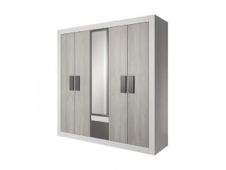 HEAVEN 231 cm - nowoczesna 5 drzwiowa szafa z lustrem