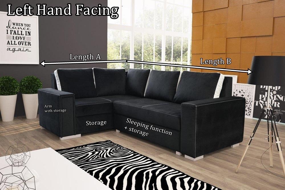 Honey Corner Sofa Bed With Bedding Storage Sleep Function Made To Measure Corner Sofa